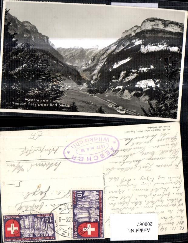 200067,Wasserauen m. Weg zum Seealpsee u. Säntis Kt Appenzell