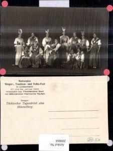 200068,Lindenheim Sänger Trachten Fest Töchterchor Tugendrösli abm Himmelberg Frauen Tracht Typen Kt Appenzell