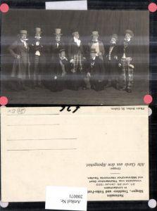 200071,Lindenheim Sänger Trachten Fest Alte Garde a. d. Alpengebiet Männer Zylinder Kt Appenzell