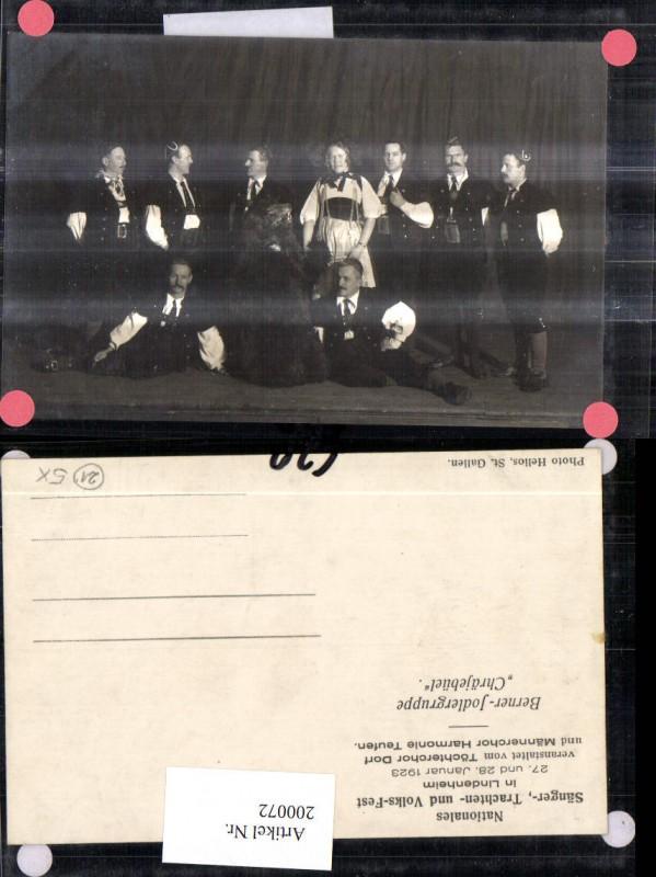 200072,Lindenheim Sänger Trachten Fest Berner Jodlergruppe Chräjebüel Kt Appenzell
