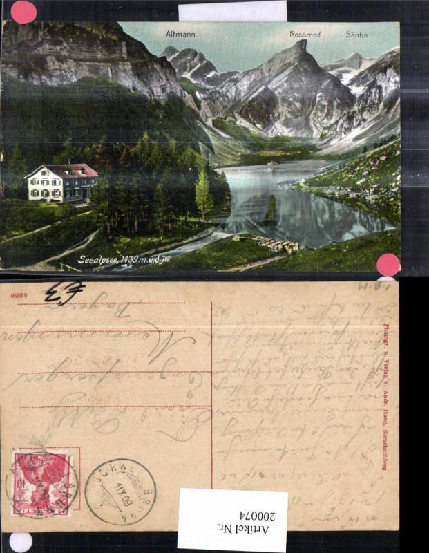200074,Seealpsee m. Altmann Rossmad Säntis Kt Appenzell