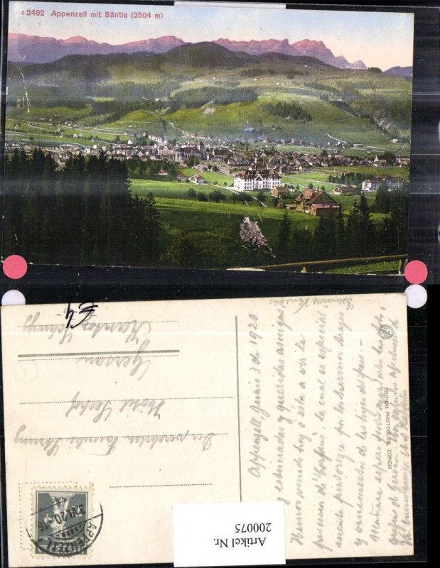 200075,Appenzell m. Säntis Kt Appenzell