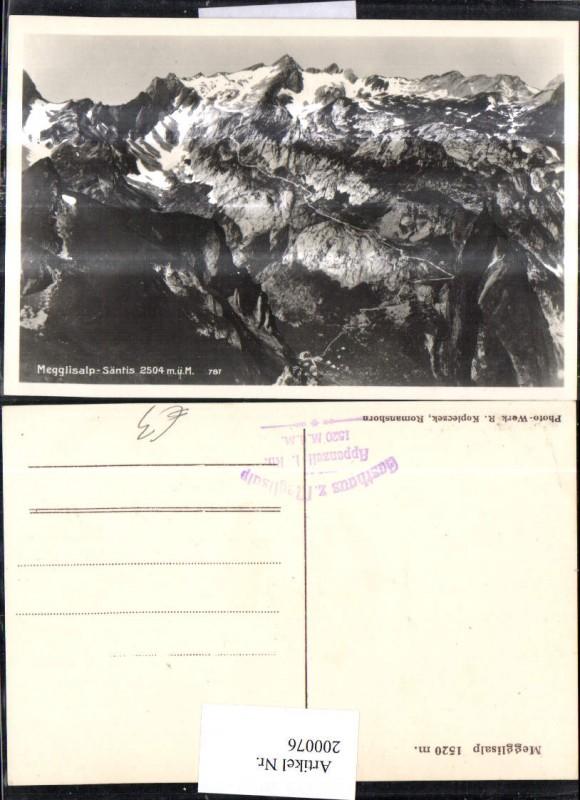 200076,Megglisalp Säntis Kt Appenzell 0
