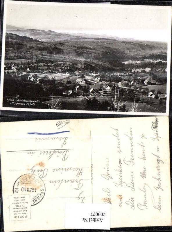 200077,Foto Ak Speicherschwendi Appenzell  0