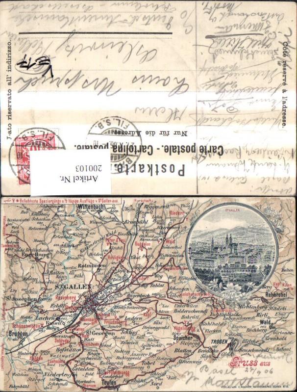200103,Basel St Gallen Lagekarte pub E. Wagner 19 0