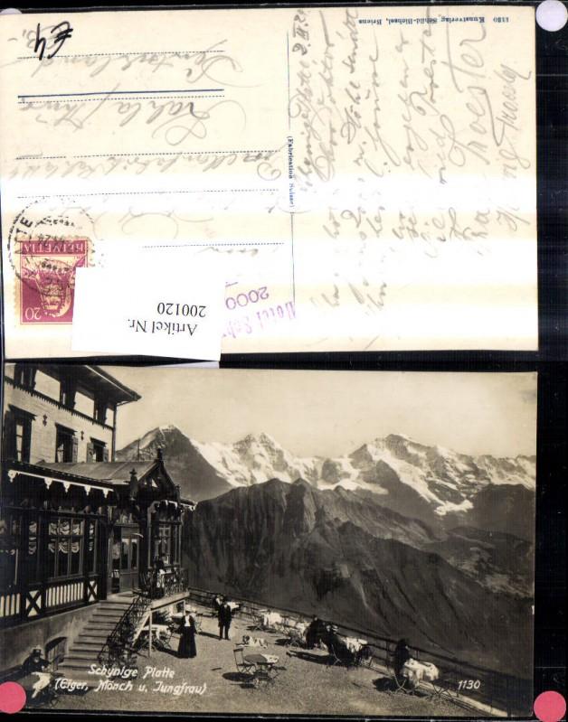 200120,Gündlischwand Schynige Platte Eiger Mönch u. Jungfrau  Ansicht Gasthaus Kt Bern 0