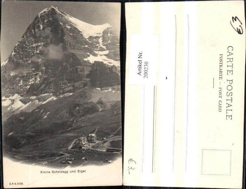 200230,Kleine Scheidegg m. Eiger Bergbahn Station Kt Bern