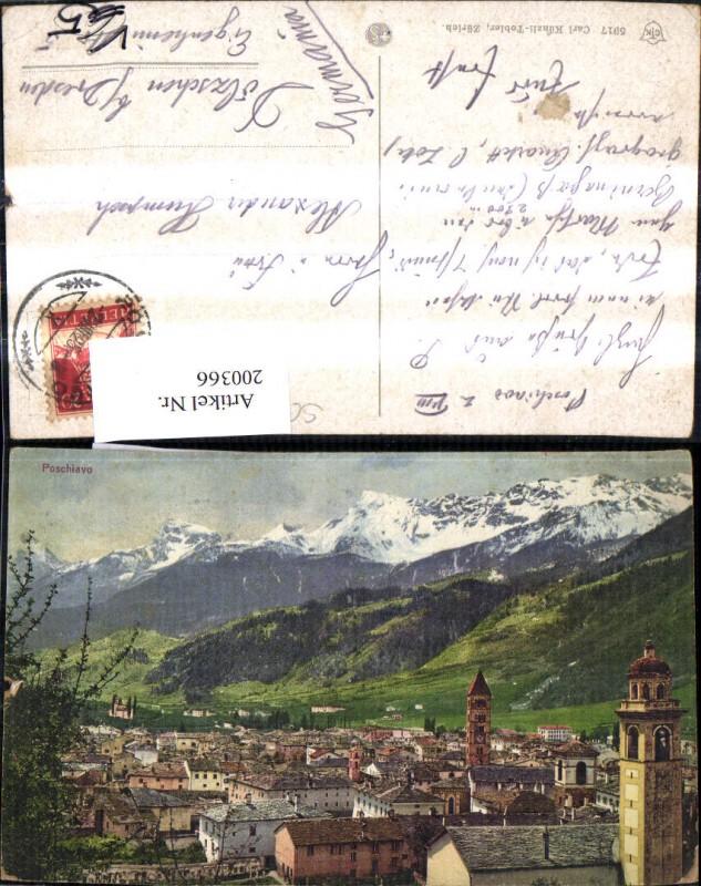 200366,Poschiavo Totale pub Carl Künzli Tobler 5917 Kt Graubünden
