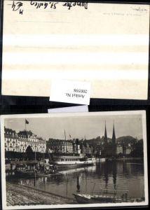 200598,Luzern Teilansicht Schweizerhofquai Dampfer St Gallen Kt Luzern