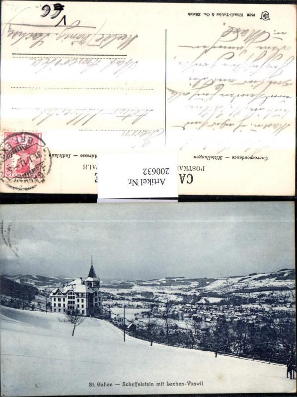 200632,St Gallen Teilansicht Scheffelstein m. Lachen-Vonwil pub Carl Künzli 3526 0