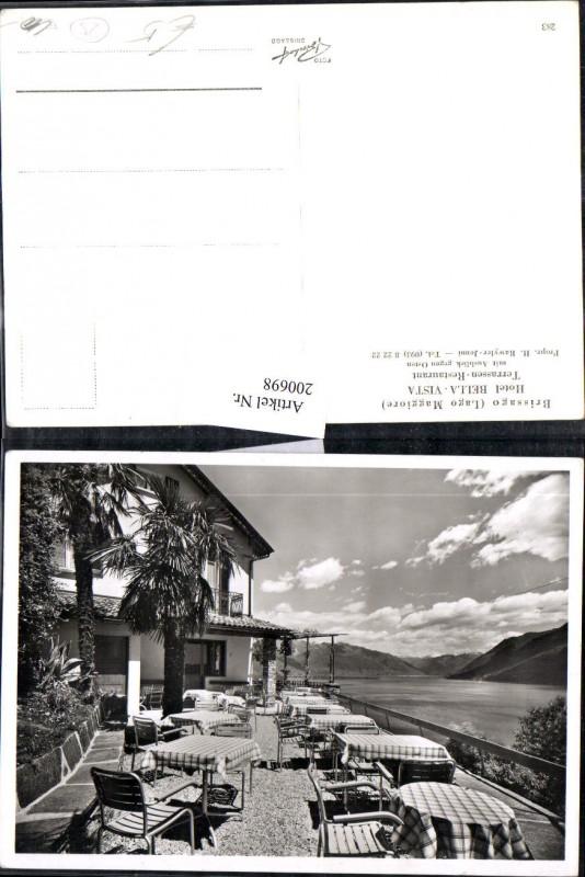 200698,Brissago Lago Maggiore Hotel Bella-Vista Terrassen-Restaurant Terrasse Kt Tessin