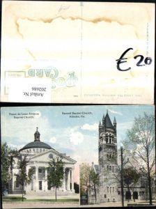 202686,Georgia Atlanta Second Baptist Church Ponce de Leon Avenue Baptist Church Kirchen Mehrbildkarte
