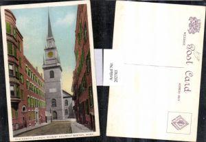 202783,Massachusetts Boston Old North Church Christ Kirche Straßenansicht