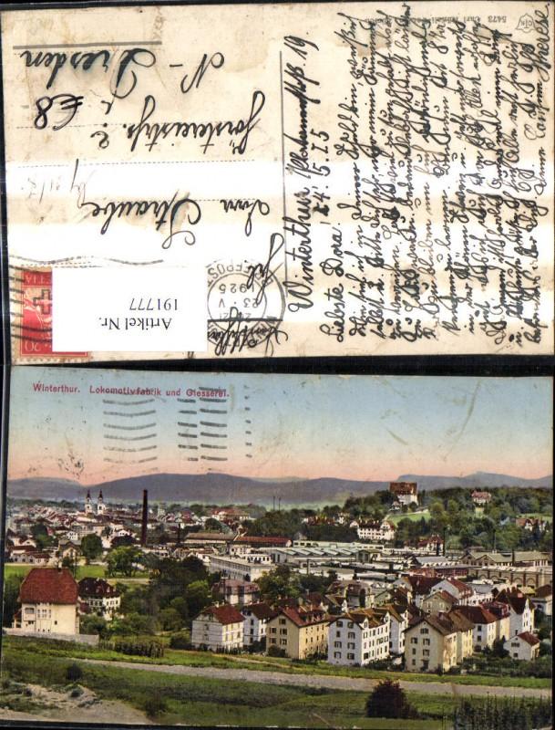 191777,Winterthur Lokomotivfabrik u. Giesserei Kt Zürich 0