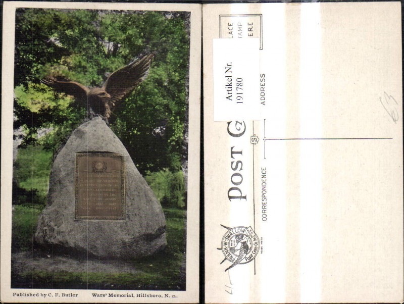 191780,New Hampshire Hillsboro Wars Memorial Denkmal  0