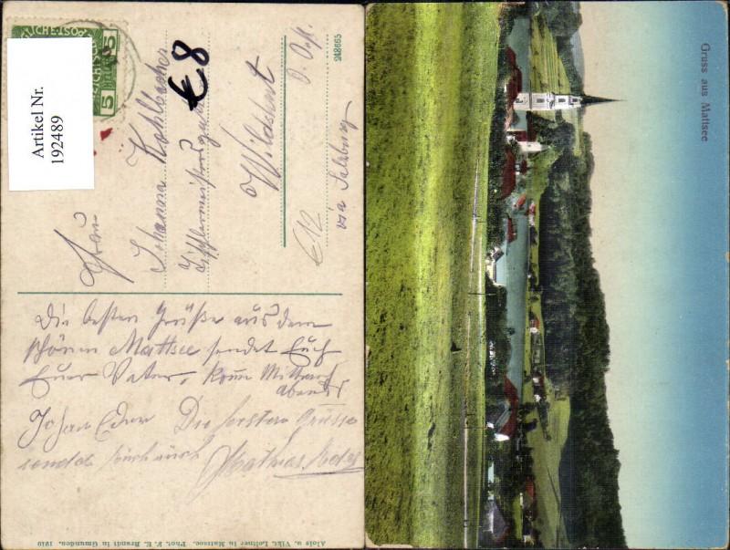 192489,Mattsee Ansicht m. Kirche  0