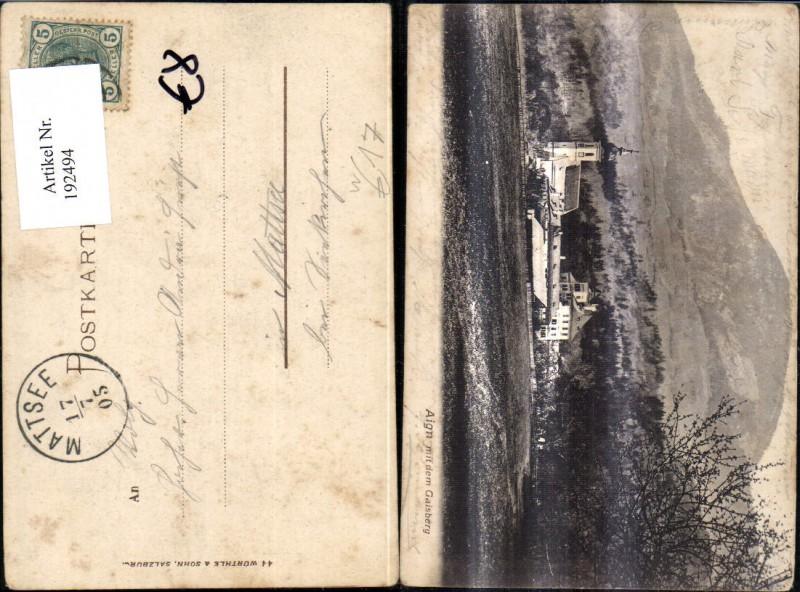 192494,Salzburg Aign Aigen m. d. Gaisberg Ansicht Schloss 0