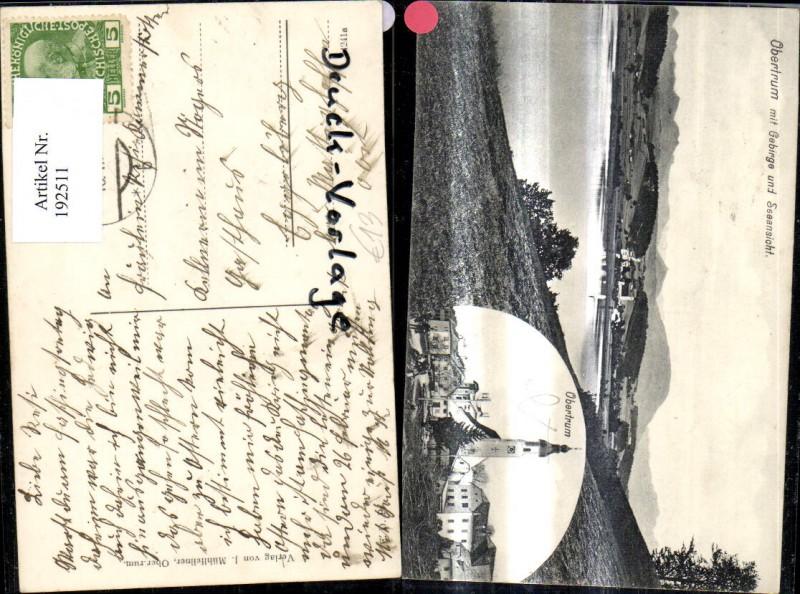 192511,Obertrum m. Gebirge u. Seeansicht Obertrumersee Mehrbild Ak  0