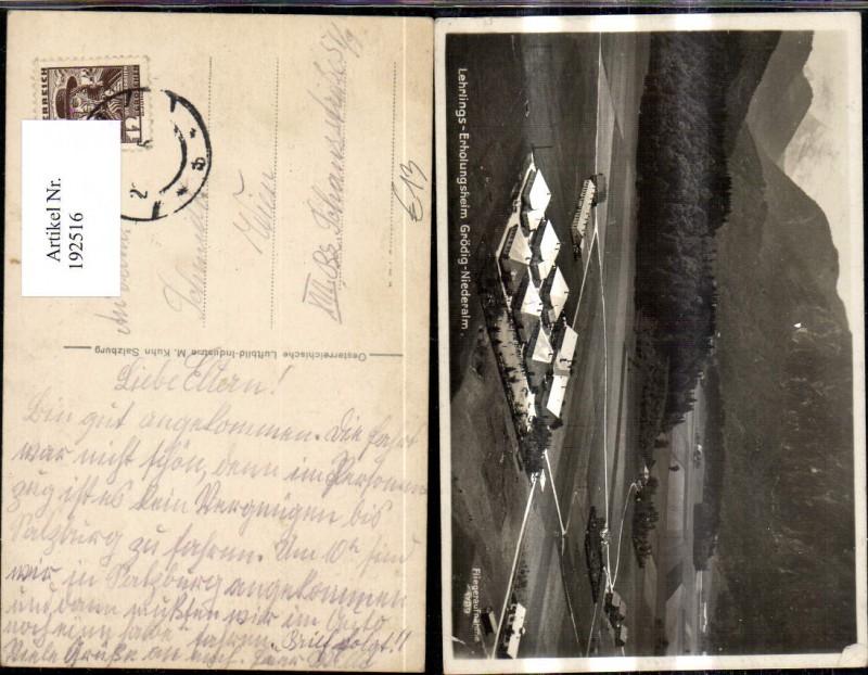 192516,Grödig Niederalm Ansicht Lehrlings Erholungsheim Fliegeraufnahme 0