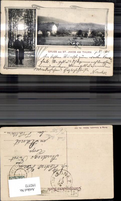 192572,St Jackob a. Thurn Puch b. Hallein Mehrbild Ak Mann m. Gehstock Stempel Postablage St Jakob a. Thurn 0