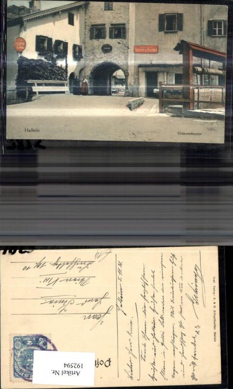 192594,Hallein Griesrechentor Ansicht Tapezierer u. Decorateur Dekorateur  0