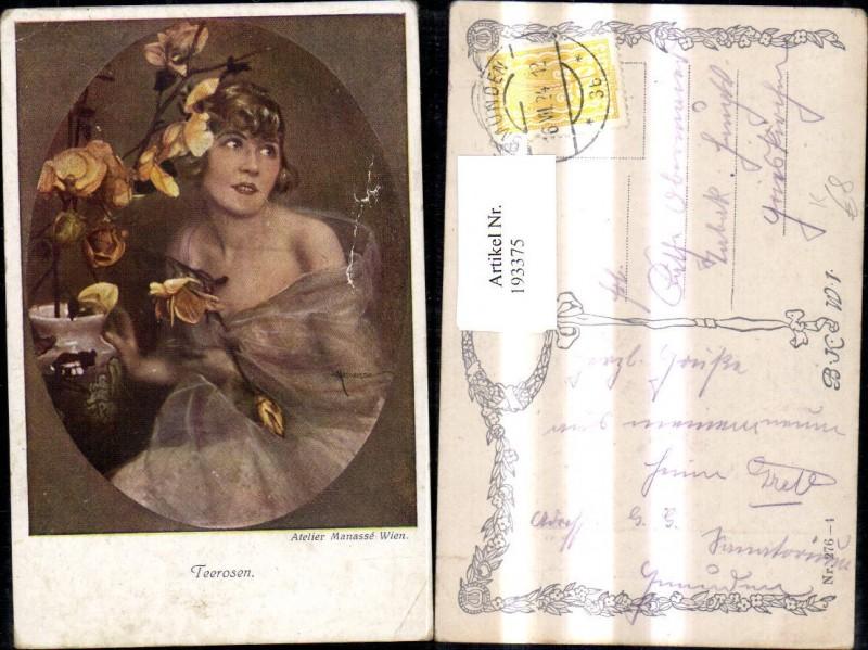 193375,Künstler Ak Atelier Manasse Teerosen  0