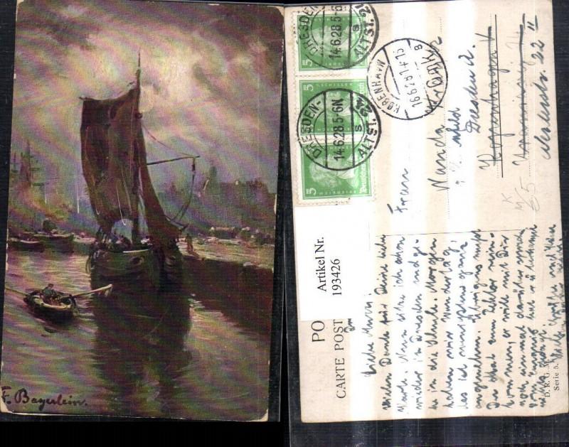 193426,Künstler AK F. Bayerlein Segelschiff Schiff Boot