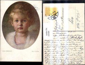 193584,Künstler Ak Rob. Scheffer Mein Liebling Kind Portrait Passepartout