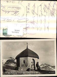 194794,Arnoldhöhe Mausoleum m. Ankogel Hochalmspitze Ansicht m. Bergsteiger Wanderer Hannover Haus Mallnitz