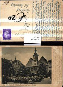 196227,Jena Markt Rathaus m. Bismarckbrunnen Studentischer Frühschoppen auf d. Markte