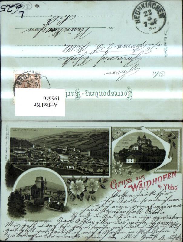 196646,Litho Waidhofen a. d. Ybbs Rothschild Schloss Sonntagberg  0