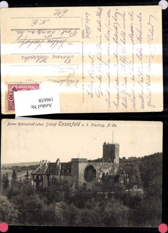 196658,Enzesfeld a. d. Triesting Enzesfeld-Lindabrunn Baron Rothschildsches Schloss  0