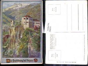 206531,Künstler AK E. F. Hofecker Deutscher Schulverein 334 Die Haselburg b. Bozen Burg