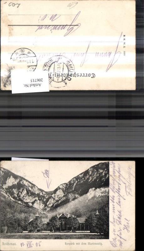 206715,Reichenau Kurpark m. d. Mariensteig  0