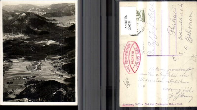 206784,Schneeberg Blick über Puchberg z. Hohen Wand  0