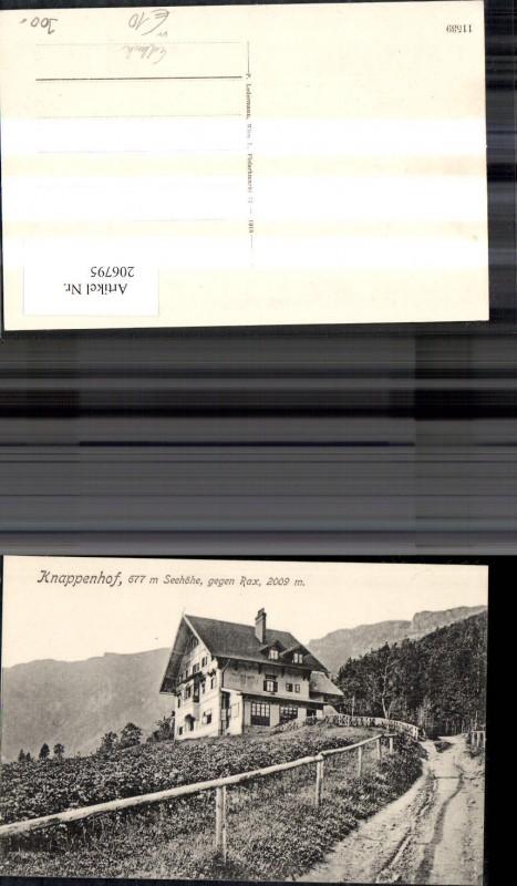 206795,Knappenhof geg. Rax Edlach 0
