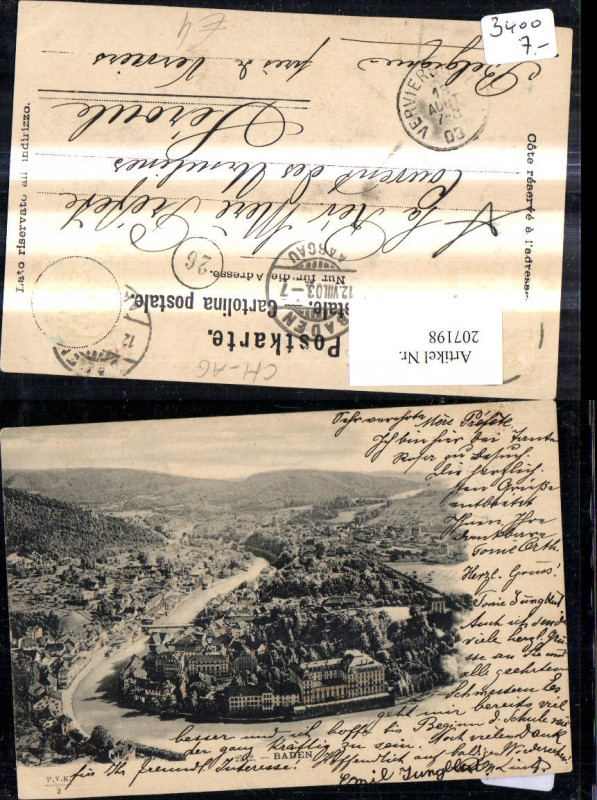 207198,Baden i. Schweiz Totale Kt Aargau
