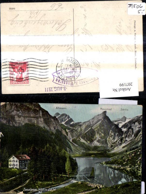 207199,Seealpsee See m. Altmann Rossmad u. Säntis Kt Appenzell