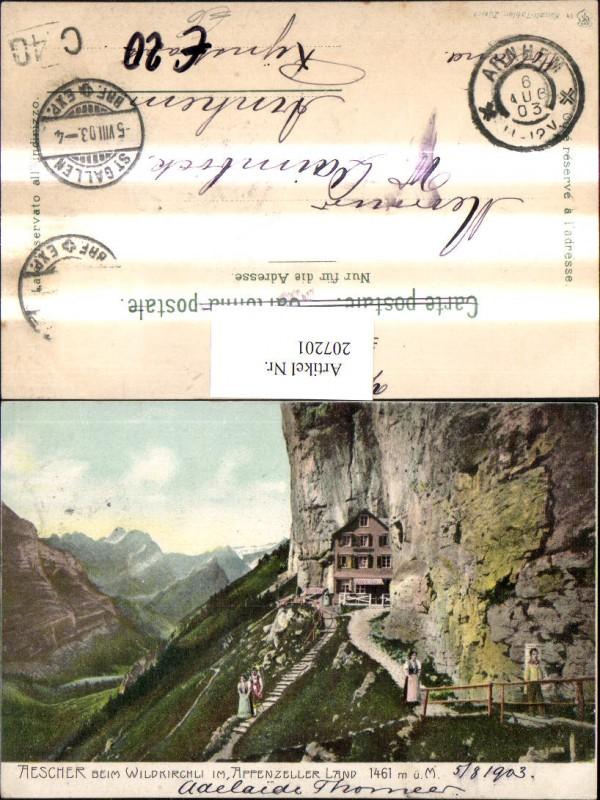 207201,Aescher b. Wildkirchli im Appenzeller Land Kt Appenzell