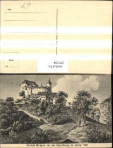 207204,Schloss Birseck v. d. Zerstörung im Jahre 1792 Kt Basel-Land