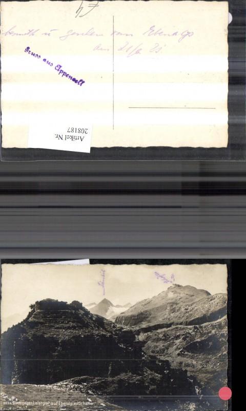 208187,Foto Ak Blick geg. Lislergrat auf Ebenalp m. Schäfler Bergansicht Kt Appenzell
