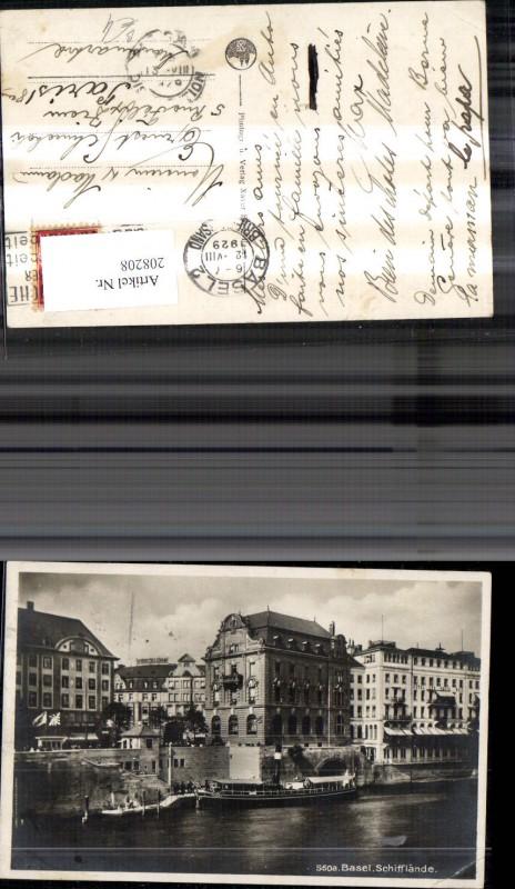 208208,Basel Schifflände Schiff Dampfer