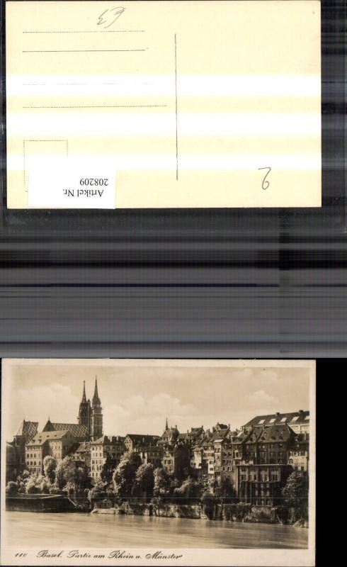 208209,Basel Partie a. Rhein u. Münster