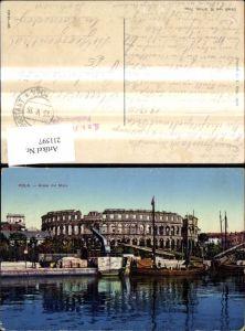 211597,Pola Arena dal Mare Hafen Schiffe Boote