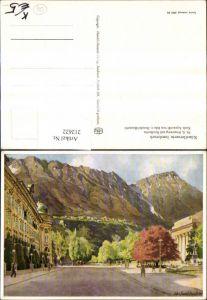 212622,Künstler AK Edo v. Handel-Mazzetti Innsbruck Rennweg m. Nordkette Straßenansicht