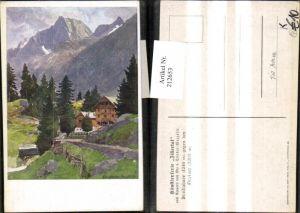 212653,Künstler AK Edo v. Handel-Mazzetti Zillertal Breitlahner geg. d. Greiner
