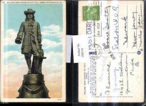 190318,Pennsylvania Philadelphia William Penn Statue on City Hall Tower