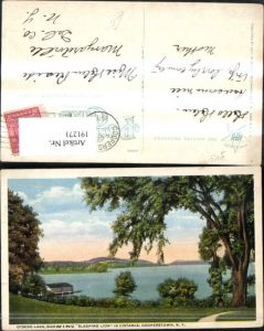 191271,New York Cooperstown Otsego Lake showing Sleeping Lion in Distance
