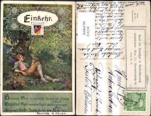 214150,Bund d. Deutschen in Niederösterreich 42 Künstler Ak Marussig Einkehr Spruch Text