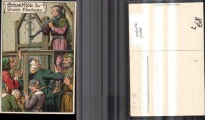 214488,Künstler Litho Ad. J. Schandflöte für schlechte Musikanten Folter
